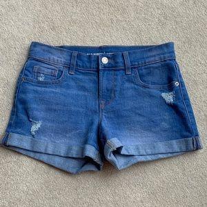 Old navy distressed boyfriend jean shorts